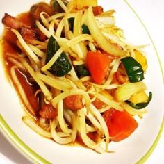 もやしと野菜のささっと中華風野菜炒め