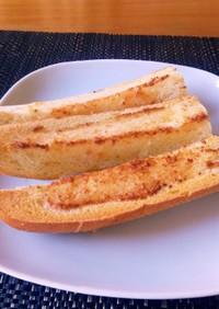 ほんのりチーズ味のガーリックブレッド