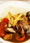 焼き茄子とチキングリルの夏野菜カレー