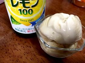 甘酒とプロテインのジェラート☆塩レモン