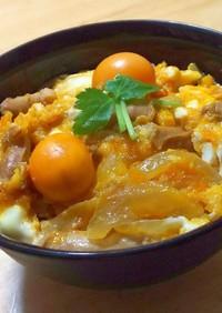 きんかん卵ともつの親子丼