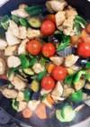 鶏胸肉と夏野菜たっぷりのピリ辛炒め煮