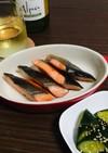 鮭の塩焼き(フライパン用ホイル初挑戦)