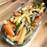 中華風豚肉と野菜のきんぴらの写真