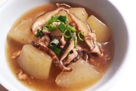 冬瓜と薄切り豚肉のあんかけ煮