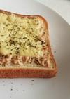 冷凍食パンのツナマヨチーズトースト