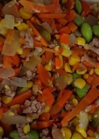 レンジ簡単  夏野菜大量消費