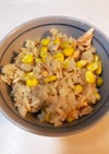 鮭とトウモロコシの炊き込みご飯