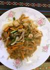 糸こんにゃくと野菜の韓国風炒め