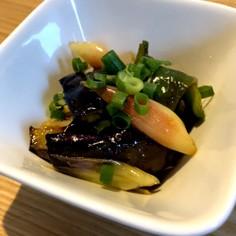 夏野菜の黒酢マリネ