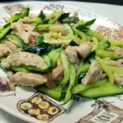 キュウリと鶏肉の中華炒め❤️の写真