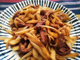 簡単美味・牛肉と牛蒡の甘辛炒め
