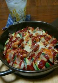 ニンニク☆ズッキーニとトマトのチーズ焼き