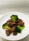 砂肝とブロッコリーの炒め物