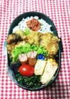 高校男子弁当♡鶏胸のしっとり揚げ7/11