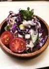 ほんのり甘い♡紫キャベツのツナサラダ