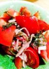 トマトと塩昆布のマリネ風