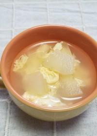 ☆鶏ガラで♪簡単・冬瓜卵スープ☆