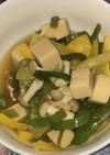 ピーマンとズッキーニと高野豆腐のポン酢煮