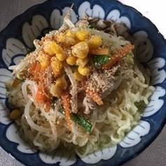 夏野菜集合の簡単冷麺