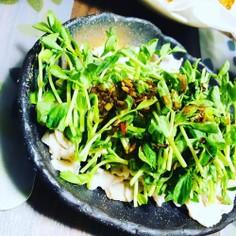 豚肉と豆苗のサッパリサラダ
