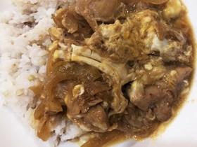 鶏のモモ肉ぷりぷりの簡単な親子丼