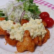 鶏胸肉のタルタル甘辛チキン