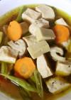 高野豆腐とサラダチキンの低糖質おつまみ