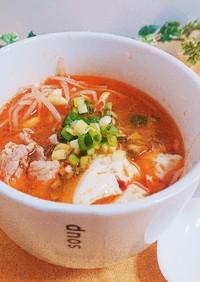 豆もやしと豆腐の激辛スープ(唐からし族)
