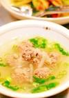 和風肉団子スープ