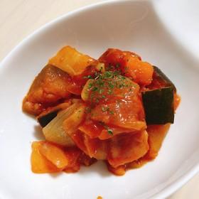 たっぷり野菜とベーコンのラタトゥイユ