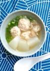 鶏肉だんごと冬瓜のスープ
