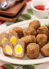 揚げずに簡単!うずら卵のスコッチエッグ
