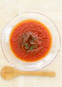 トマト丸ごと冷製スープ