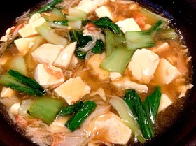 豆腐と蟹カマの中華あんかけ
