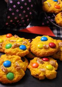カラフル☆かぼちゃのチョコチップクッキー