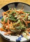 インゲン人参胡瓜ツナの混ぜるだけサラダ
