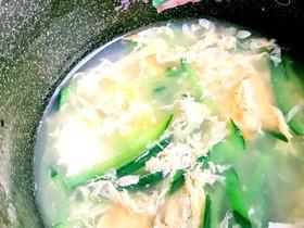 簡単!時短!きゅうりの中華スープ♪