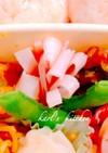 簡単かわいいハムと枝豆のお花