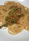 激ウマ!とろねば☆納豆と蕨のスパゲティ