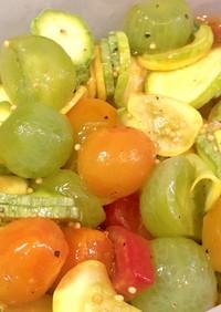 ミニトマトとズッキーニのハニーマリネ