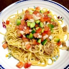 夏野菜の冷製パスタ 簡単 美味しい