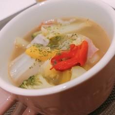 簡単!時短!野菜たっぷり彩りスープ