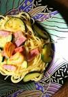 ズッキーニとベーコンのペペロンチーノ
