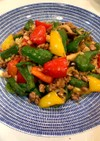 簡単美味しい♫挽肉と彩りピーマン味噌炒め