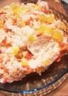 鮭とたくあんのチラシ寿司