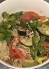 豚肉と夏野菜とミニトマトの炒め煮