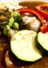 夏野菜とホタテのカレー