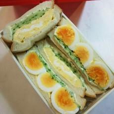 お弁当(7/14) だし巻き玉子サンド