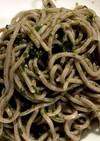 胡麻油と青海苔の冷たい蕎麦
